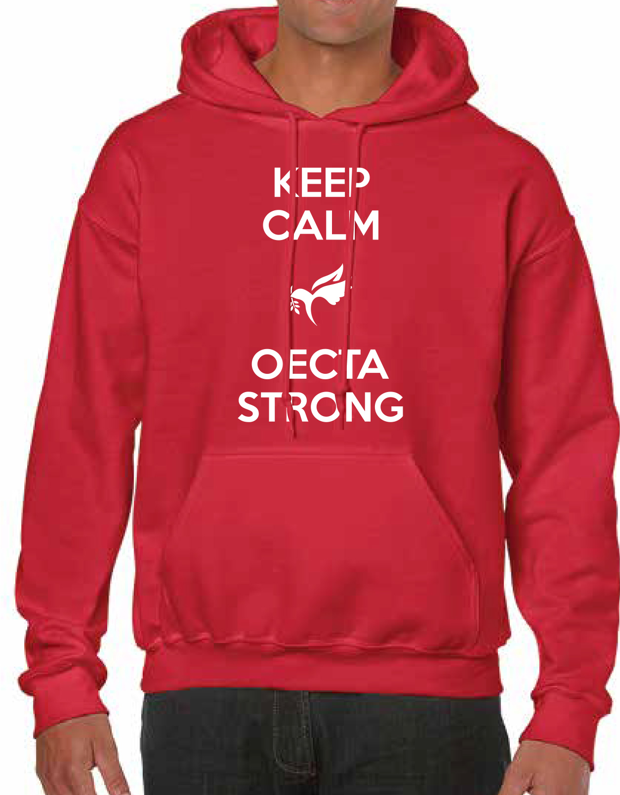 NEW! Wear Red for Ed - Keep Calm OECTA Strong Hoodie ($40 each)
